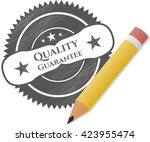 quality guarantee drawn in... | Shutterstock .eps vector #423955474