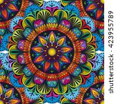 vector color mandala seamless... | Shutterstock .eps vector #423955789