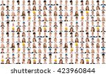 collage of people from...   Shutterstock . vector #423960844