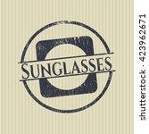 sunglasses rubber stamp | Shutterstock .eps vector #423962671