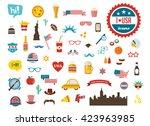 american design elements. happy ... | Shutterstock .eps vector #423963985