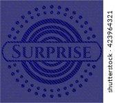 surprise badge with denim... | Shutterstock .eps vector #423964321