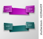 origami paper infographic... | Shutterstock .eps vector #423964459