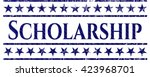 scholarship emblem with jean... | Shutterstock .eps vector #423968701