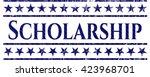 scholarship emblem with jean...   Shutterstock .eps vector #423968701