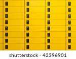 Yellow Post Office Boxes With...