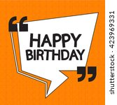 happy birthday illustration... | Shutterstock .eps vector #423969331