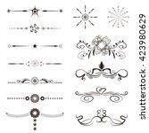 calligraphy swirl  line graphic ...   Shutterstock .eps vector #423980629
