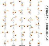 semaphore flag positions for... | Shutterstock .eps vector #42398650