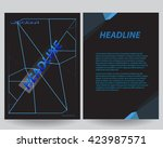 abstract flyers brochure annual ... | Shutterstock .eps vector #423987571