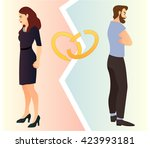 Divorcing Couple  Illustration