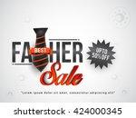 vector illustration sale banner ... | Shutterstock .eps vector #424000345