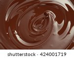 melted chocolate swirl with a... | Shutterstock . vector #424001719