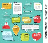 set of 15 quote for the web... | Shutterstock . vector #424004119
