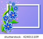 illustration background with... | Shutterstock .eps vector #424011109