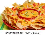 Plate Of Fresh Nachos With A...