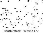 a flock of flying birds.... | Shutterstock .eps vector #424015177