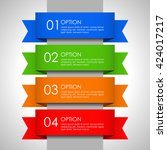 options banner template with... | Shutterstock .eps vector #424017217