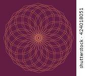 round vector ornament mandala....   Shutterstock .eps vector #424018051