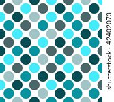 Shades Of Blue Polka Dot