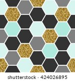 geometric seamless repeating... | Shutterstock .eps vector #424026895