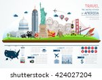 info graphics travel and... | Shutterstock .eps vector #424027204