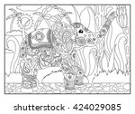 coloring page elephant with