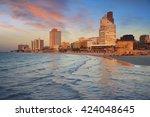 tel aviv. image of tel aviv ... | Shutterstock . vector #424048645