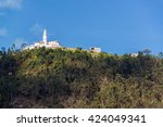 view of monserrate church high... | Shutterstock . vector #424049341