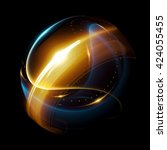 abstract ring background. 3d... | Shutterstock . vector #424055455