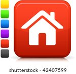home icon on square internet... | Shutterstock .eps vector #42407599