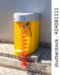 Small photo of SAMARA, RUSSIA - MAY 14, 2016: Air pump at the Rosneft gas station in summer sunny day. Rosneft is one of the largest russian oil companies and gas stations