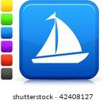 sailboat icon on square...