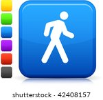 walking icon on square internet ...   Shutterstock .eps vector #42408157