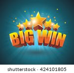 big win gold sign for online... | Shutterstock .eps vector #424101805