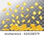 vector illustration of flying... | Shutterstock .eps vector #424108579
