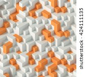 composition of white and orange ... | Shutterstock . vector #424111135