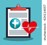 medical healthcare design  | Shutterstock .eps vector #424114057