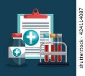 medical healthcare design    Shutterstock .eps vector #424114087