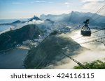 bright misty view of the city... | Shutterstock . vector #424116115