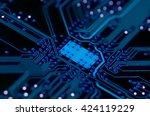 Dark Blue Pcb Board Integrated...