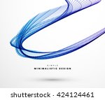 blue and purple technology... | Shutterstock .eps vector #424124461