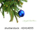 pine branches and christmas... | Shutterstock . vector #42414055