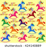 happy birthday  celebration...   Shutterstock . vector #424140889