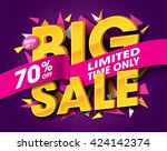 big sale concept with label... | Shutterstock .eps vector #424142374