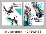 business report brochure ... | Shutterstock .eps vector #424142455