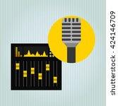 musical production design    Shutterstock .eps vector #424146709