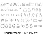 accessories icons. line icons ... | Shutterstock .eps vector #424147591