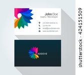 colorful logo corporate... | Shutterstock .eps vector #424151509