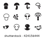 vector mushroom icon collection.... | Shutterstock .eps vector #424156444